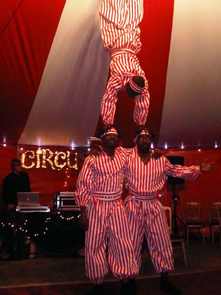 African Acrobats, limbo, bowl spinning acts